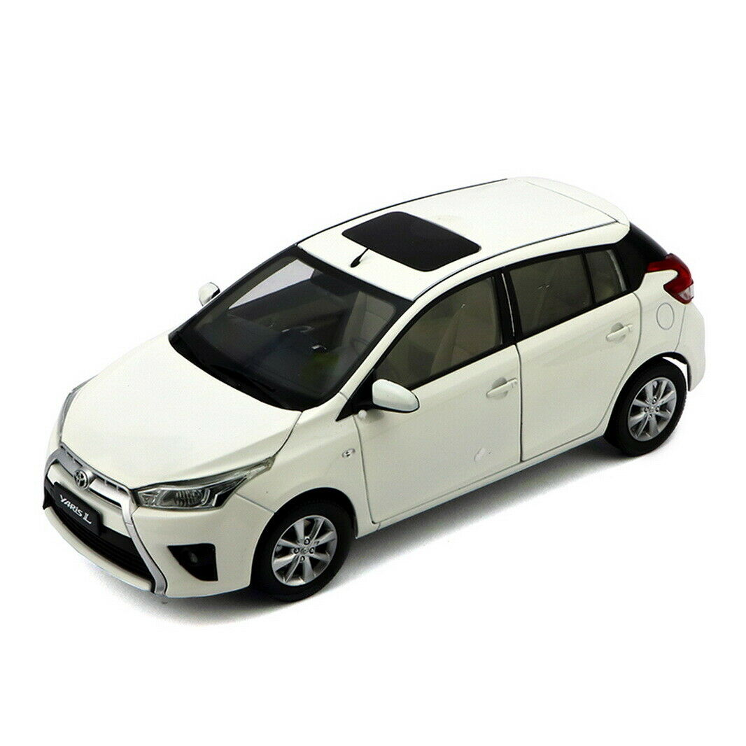 1 18 Scale Toyota Yaris L 2014 White Diecast Car Model Collection Gift