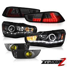 08-12 Mitsubishi Lancer GTS [HID] Black Headlights Smoke LED Tail Lights Fog L+R