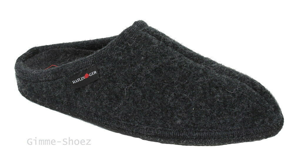 Haflinger Walktoffel ALASKA Hausschuhe grau graphit Wollfilz 611001-77 NEU