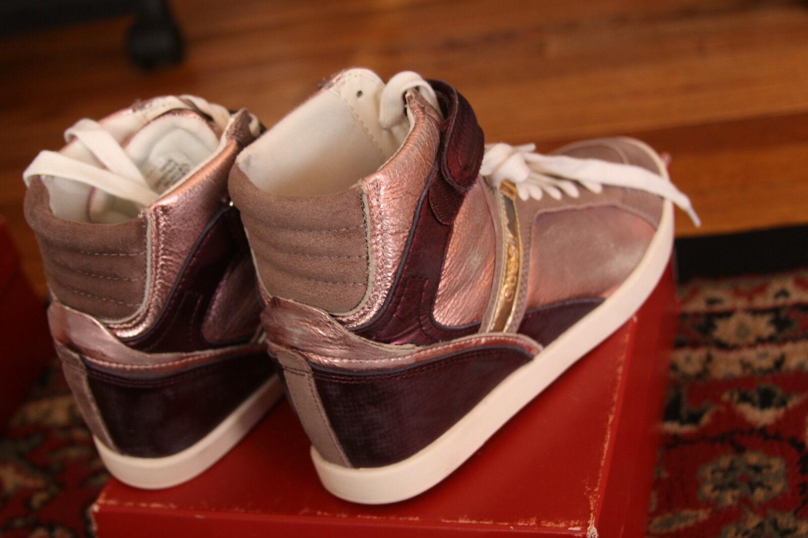 GUESS donna PERINA MEDIUM MEDIUM MEDIUM rosa LEATHER WEDGE scarpe da ginnastica Dimensione 9 b4062f