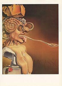 "1976 Vintage SALVADOR DALI /""BIRD/"" LOVELY Color Art Print Lithograph"