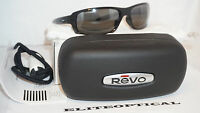Authentic Sunglasses Revo Converge Polished Black/polrizd Graphite Re4064-01