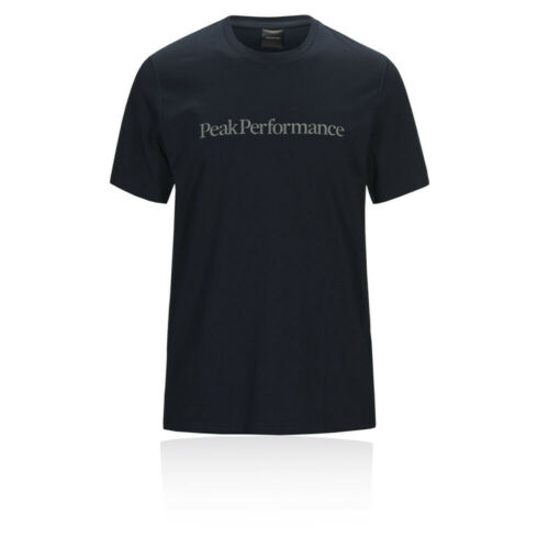 Navy Blue Sports Running Outdoors Peak Performance Mens Track T Shirt Tee Top