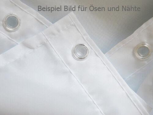 Anti-Bakteriell /& Schimmel Textil Duschvorhang 240 x 200 Uni Weiß inkl Ringe