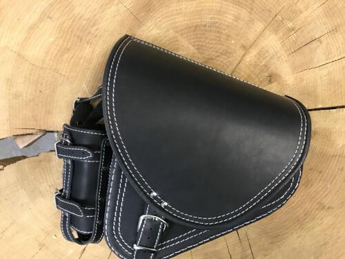 Bolsa nuevo Harley Davidson oscilación bolso negro con puntadas blancas Black #101