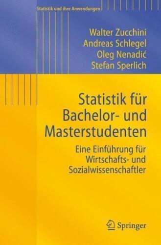 1 von 1 - Statistik für Bachelor- und Masterstudenten von Walter Zucchini, Andreas...