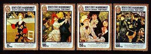 Aden Qu 'aiti 1967 ** Mi.142/45 A Tableaux Paintings Renoir
