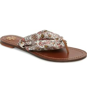 Tory-Burch-Carson-Hicks-Garden-Print-Satin-Flat-Leather-Sandals