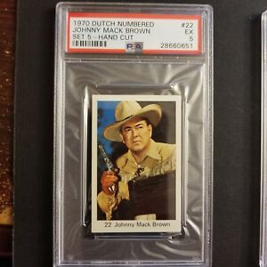 1970 Dutch Numbered Set 5 22 Johnny Mack Brown Actor Alabama