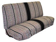 Saddle Blanket Truck Bench Seat Cover Fits Chevrolet, Dodge, Ford Trucks (Black)