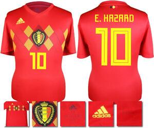 wholesale dealer 8079a 93b08 Details about E. HAZARD 10 - BELGIUM HOME 2018 WORLD CUP ADIDAS SHIRT SS =  ADULTS