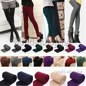 Women-Winter-Warm-Stretchy-Leggings-Skinny-Pants-Thermal-Thick-Footless-Casual