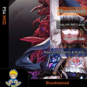 Bloodstained-Ritual-of-the-Night-PS4-Mod-Max-HP-MP-LEVEL-Gold-Coin-Item-Shards
