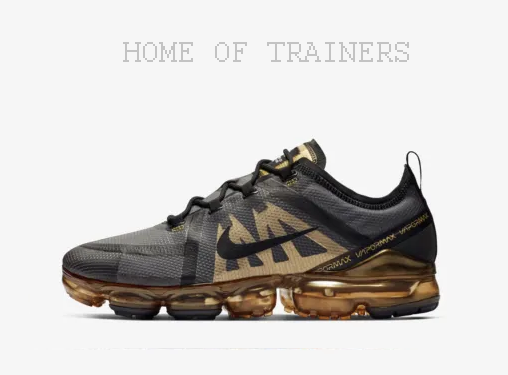 Nike Aire Vapormax 2019 black gold Metálico Hombre Zapatillas en Todas las sizes