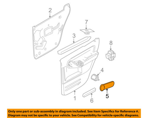 FORD OEM Front Door-Cover Panel Right 6L2Z78224A34AAL