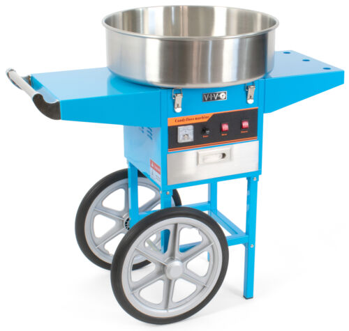 VIVO Blue Electric Commercial Cotton Candy Machine StandFloss Maker