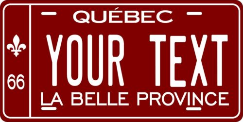 Quebec 1966 License Plate Personalized Custom Auto Bike Motorcycle Moped Tag