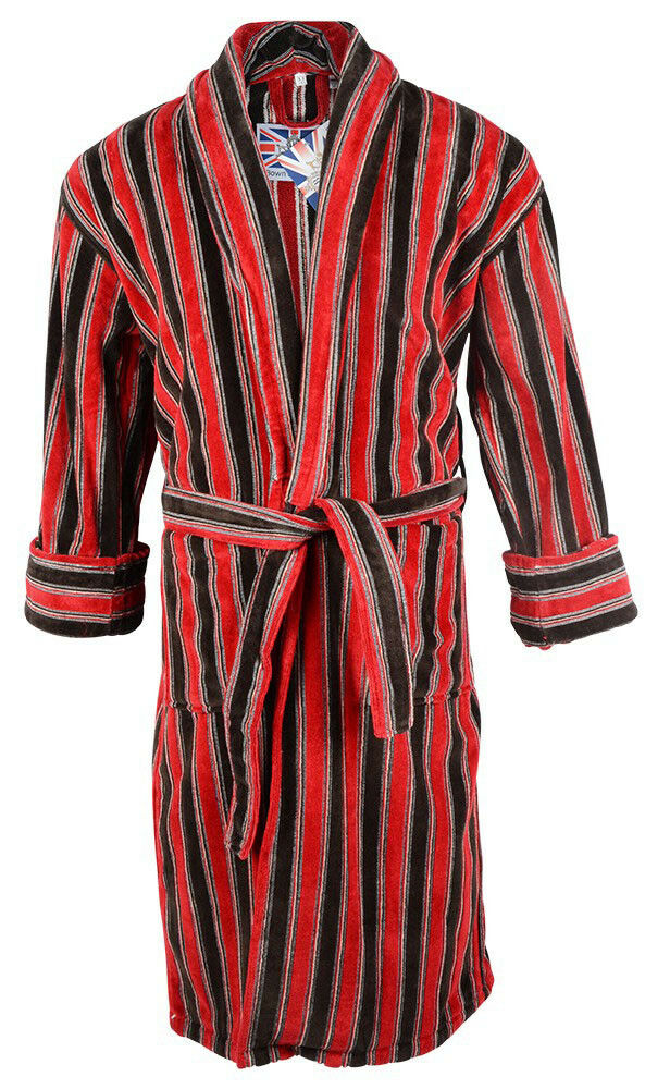 Bown - Ely velour striped dressing gown