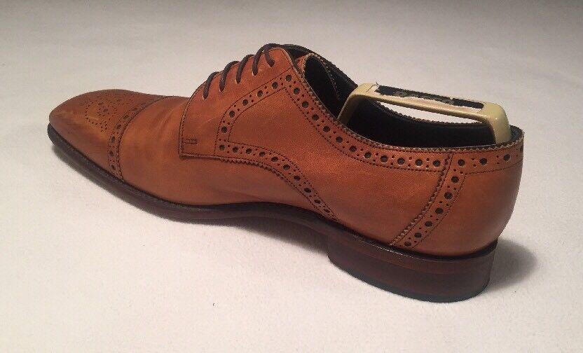 Loake 1880 Premium Collection Byron Brogue UK Tan Braun Leder Schuhes UK Brogue 11 WEDDING 73d993