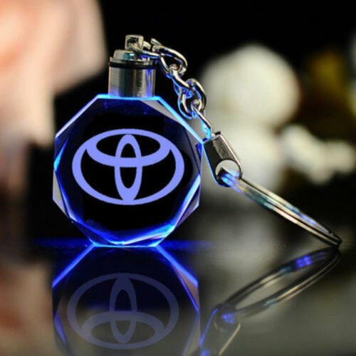 New Style Toyota Keychain Keyring Accessories LED 7 Color Light Change