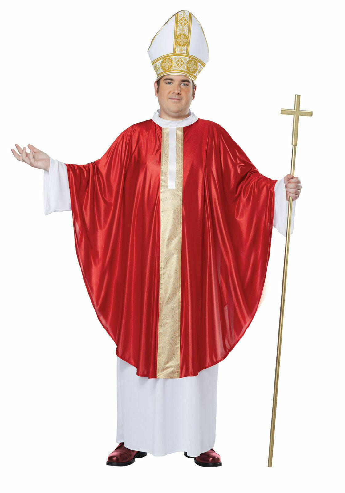 Mens Plus Size The Pope Costume Size 48-52