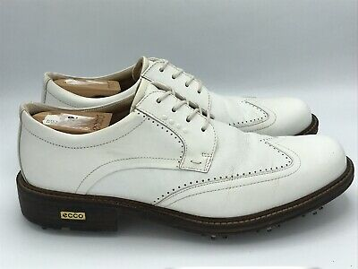 Class White Leather Golf Shoes