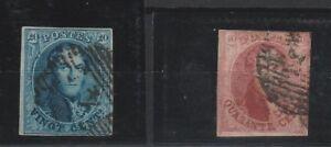 FRANCOBOLLI-1851-BELGIO-LEOPOLDO-I-C-10-20-Z-9382