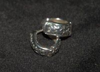 Silpada - P0837 - Sterling Silver Geometric Filigree Huggie Earrings - -