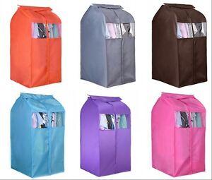 plastic clothing dust cover hanging garment suit coat wardrobe storage bag ebay. Black Bedroom Furniture Sets. Home Design Ideas
