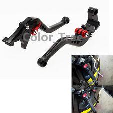 CNC Black Shorty Clutch Brake Levers For YAMAHA DT125RE 2004-2007 Adjustable