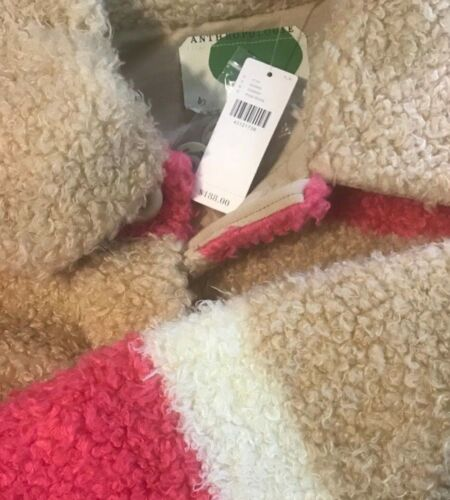 NWT Anthropologie Colorblocked Sherpa Jacket $188