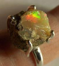 Welo Opal-Ring roh, 925er Sil., Gr.55