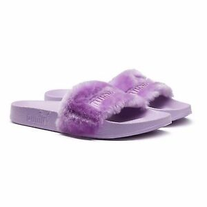 Fenty Puma By Rihanna Fur Womens Slide Sandals Purple 365772-02 ... 3aecbabfee