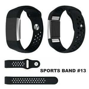 For-Fitbit-Charge-2-Band-Replacement-Wristband-Silicon-Sports-Watch-Strap-Metal