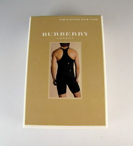 e79ae1d8dfe0dc NIB Burberry London Black Racer Back Men s Slim Fit Tank Top Size XL ...