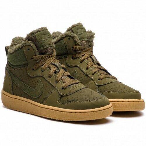 Nike Court BGoldugh Mid Mädchen Winter Schuhe grün AA3458-300 Turnschuhe Neu Gr.36