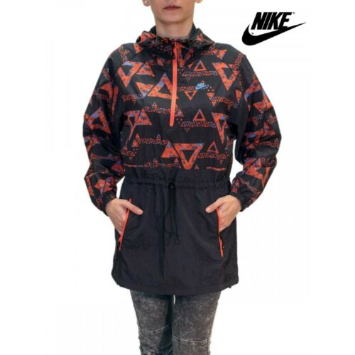 Nike Packable Kagool Lightweight Jacket Aztec Running Cycling Sports XS S M L