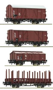ROCO-h0-Wagons-Set-de-la-DB-4-pieces-Neuf