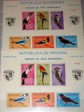 PANAMA 1965 Block 42 A-B S/S C338a perf - imperf Birds Vögel Fauna Trupial MNH