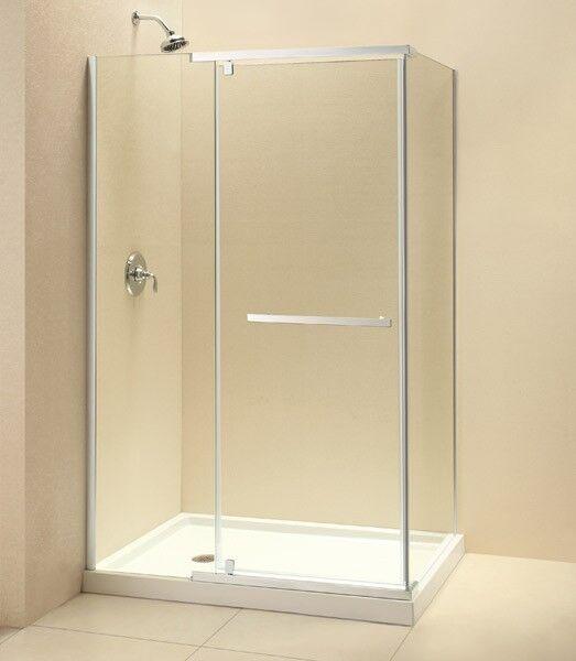Dreamline 34 X 46 Quatra 3 8 Gl Frameless Pivot Corner Shower Enclosure