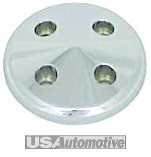 Satin Aluminium Small Block Chevy Water Pump Pulley Nose Short Water Pump R9488