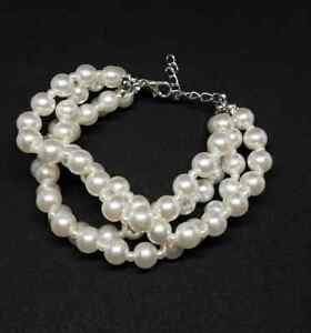 dfecfd667e80a Details about Paparazzi ~ Work The Ballroom ~ White Pearl & Silver Chain  Bracelet ~ Amazing