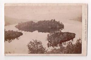 Vintage-CDV-Ellens-Isle-Loch-Katrine-Stirling-Scotland
