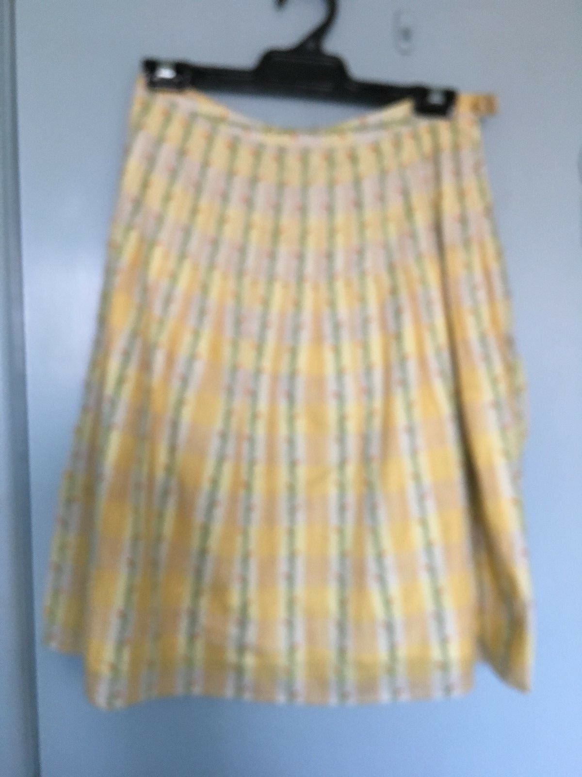Free People yellow skirt with green and orrange in size 0