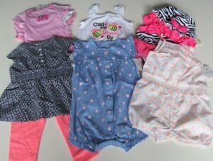 99bad1b3f969 NEW 12 PC. LOT OF BABY GIRL CLOTHES 6-9 MONTHS NWT  110