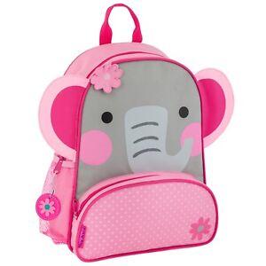 Image is loading Stephen-Joseph-Girls-Elephant-Sidekick-School-Backpack-for- ed3d7380c789d