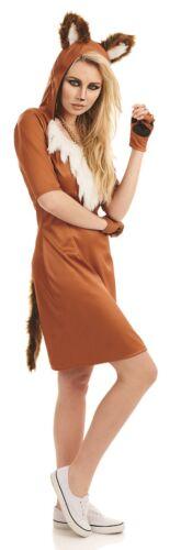 Femmes urban fox foxy animal poule ne costume fancy dress costume 8-22 plus taille