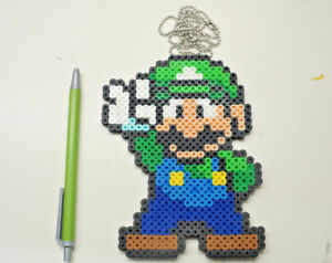 Details About Luigi Super Mario Bro 8 Bit Pixel Art Minecraft