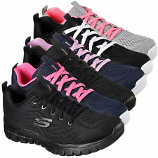Womens Skechers Gracefull-Get Connected Sports Gym Trainers Walking Sizes 3 to 9