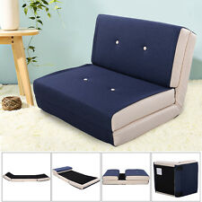 Fold Down Chair Flip Out Lounger Convertible Sleeper Bed Couch Game Dorm Navy